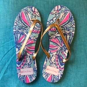 Lilly Pulitzer for Target Flop Flops Size 8